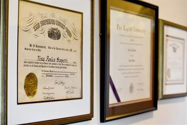 Attorney Nina P. Scopetti's credentials